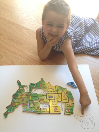 Natalie LOVES puzzles (especially of the USA), so we used this to show people where we hadn't gotten letters/dollars from so that we could complete the puzzle! In the end we got letters from every state (and a few different countries)!